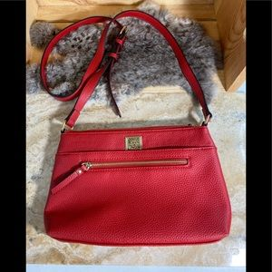 Ann Klein Cherry Red Vanity Top Crossbody Purse